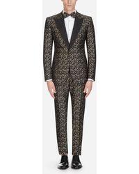 Dolce & Gabbana Sicilia Tuxedo Suit In Jacquard - Multicolour