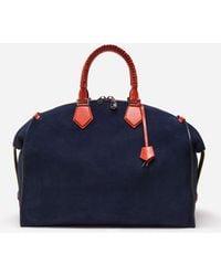 Dolce & Gabbana Edge Travel Bag In Velour - Blue
