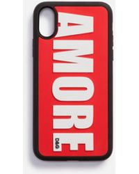 Dolce & Gabbana Rubber Amore Iphone X Cover - Red