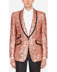 Dolce & Gabbana Sequined Sicily Jacket - Pink