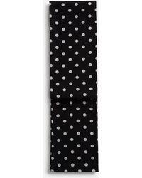 Dolce & Gabbana Silk Scarf With Medium Polka-Dot Print - Negro