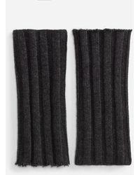 Dolce & Gabbana Half-Finger Wool Gloves - Gris
