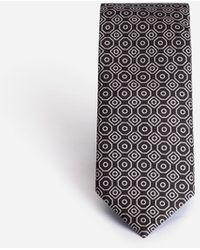 Dolce & Gabbana Silk Tie In Tie Print - Mehrfarbig