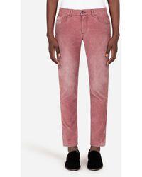 Dolce & Gabbana - Five-pocket Cotton Pants - Lyst