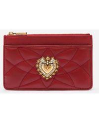 Dolce & Gabbana Medium Devotion Card Holder - Rouge