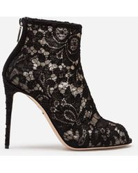 Dolce & Gabbana Boots In Lace - Black