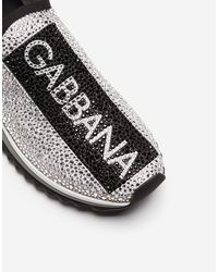 Dolce & Gabbana Zapatillas Sorrento Con Cristales Termostrass - Blanco