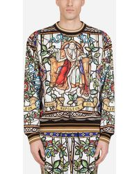 Dolce & Gabbana Sweatshirt Mit Napoleon-Print - Mehrfarbig