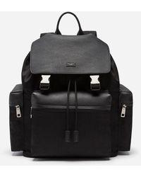 Dolce & Gabbana Backpack In Mixed Materials - Schwarz