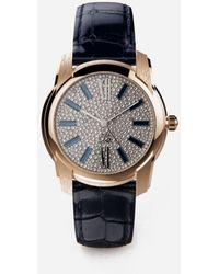 Dolce & Gabbana Golduhr Mit Diamantpavé - Mehrfarbig