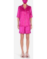 Dolce & Gabbana Dg-Embellished Pajama Set With Matching Face Mask - Pink