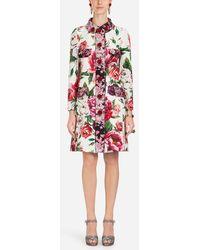 Dolce & Gabbana - Peony-print Brocade Coat - Lyst