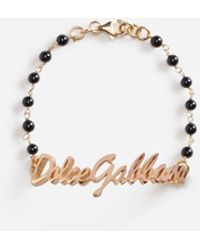Dolce & Gabbana Armband Logo Dolce&Gabbana - Schwarz