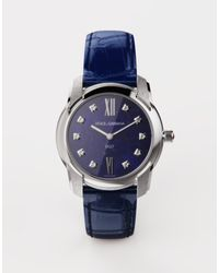 Dolce & Gabbana Uhr Dg7 Aus Stahl Mit Lapislazuli Und Diamanten - Blau