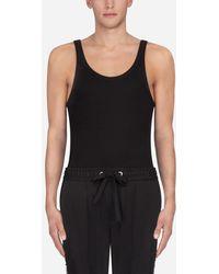 Dolce & Gabbana Tank Top In Cotton - Black