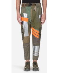 Dolce & Gabbana Colour-block Fitted Pants - Green