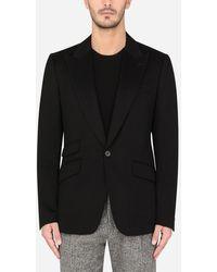 Dolce & Gabbana Deconstructed Cashmere Sicilia-Fit Jacket - Schwarz