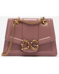 Dolce & Gabbana Small Dg Amore Bag In Calfskin - Multicolor