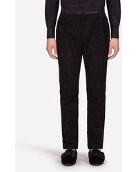 Dolce & Gabbana Pants In Cordonnet Lace - Schwarz