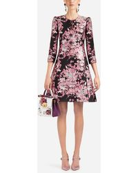 Dolce & Gabbana - Lurex Jacquard Coat - Lyst