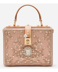 Dolce & Gabbana Satin Dolce Box Bag With Bejeweled Embroidery - Mehrfarbig