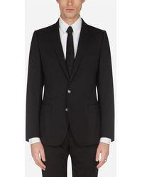 Dolce & Gabbana Stretch Wool Martini Jacket - Schwarz