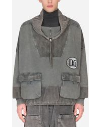 Dolce & Gabbana Corduroy Hoodie - Grau