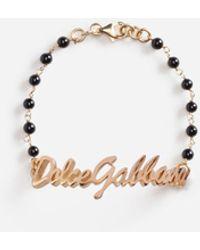 Dolce & Gabbana Dolce&Gabbana Logo Bracelet - Negro