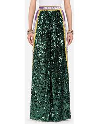 Dolce & Gabbana - Sequinned Trousers - Lyst
