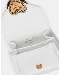 Dolce & Gabbana Devotion Micro Bag In Plain Calfskin - White