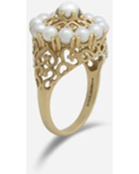 Dolce & Gabbana Romance Ring In Yellow Gold And Pearls - Mettallic