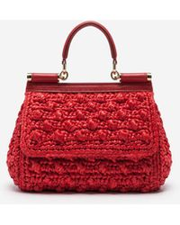 Dolce & Gabbana Small Sicily Bag - Red