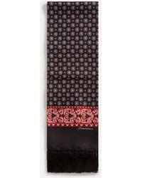 Dolce & Gabbana Silk Scarf In Bandana Print - Multicolour