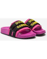 Dolce & Gabbana - Rubber And Neoprene Sliders - Lyst