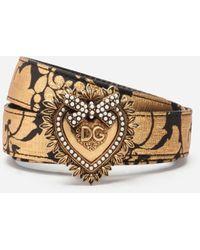 Dolce & Gabbana Jacquard Devotion Belt - Multicolour