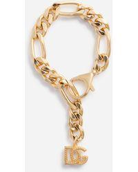 Dolce & Gabbana - Chain Bracelet With Dg Logo Charms - Lyst