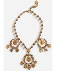 Dolce & Gabbana Necklace With Decorative Details - Mettallic