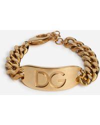 Dolce & Gabbana Dg Logo Bracelet - Metallic