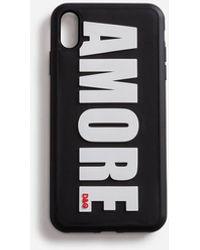 Dolce & Gabbana Cover Für Iphone Xs Max Aus Gummi Amore - Schwarz