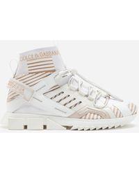 Dolce & Gabbana Sorrento High-Top Trekking Sneakers - Blanc