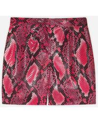 Dolce & Gabbana Bermudas Efecto Pitón - Rojo