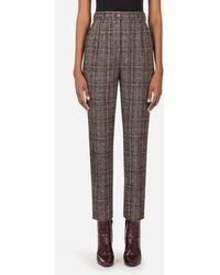 Dolce & Gabbana Checked Tartan Pants - Multicolore