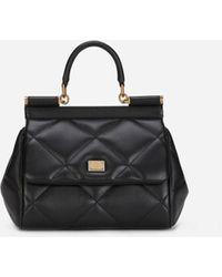 Dolce & Gabbana - Small Sicily Bag In Aria Matelassé Calfskin - Lyst