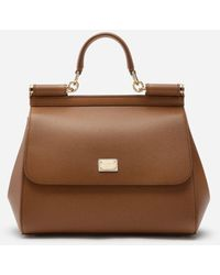 Dolce & Gabbana - Medium Dauphine Leather Sicily Bag - Lyst