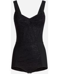 Dolce & Gabbana Corset Bodysuit - Black