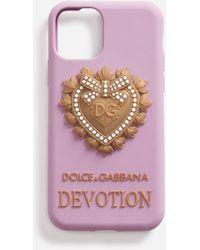 Dolce & Gabbana Rubber Devotion Iphone 11 Pro Cover - Rose