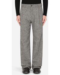 Dolce & Gabbana Micro-Patterned Pants - Grigio