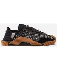 Dolce & Gabbana Mixed-Material Ns1 Slip-On Sneakers - Nero