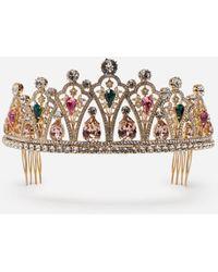 Dolce & Gabbana Tiara Mit Strass - Mettallic