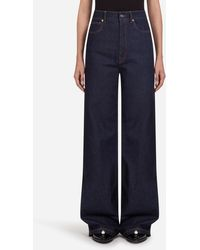 Dolce & Gabbana Flared Denim Pants - Blue